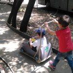 pousse auto au pays des carrioles parc enfant Montpellier